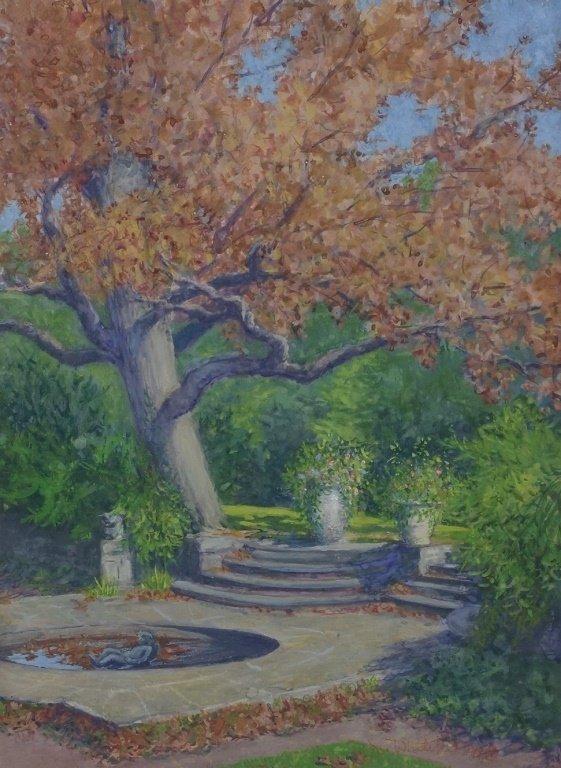 Margaret Whitehead Fall New York Fountain Painting - 2