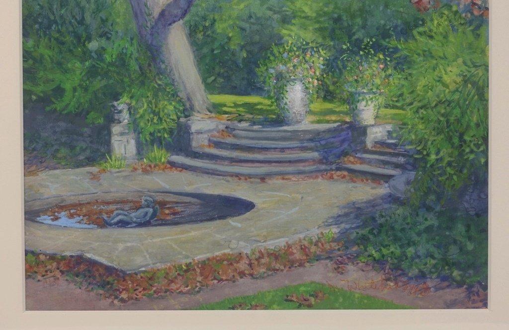 Margaret Whitehead Fall New York Fountain Painting - 4