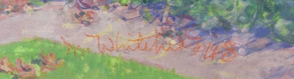 Margaret Whitehead Fall New York Fountain Painting - 5