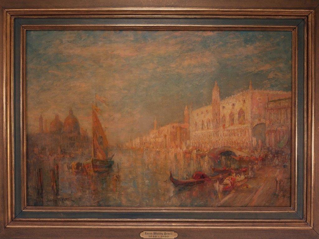 Lucien Powell Grand Canal Venetian Scene Painting - 2