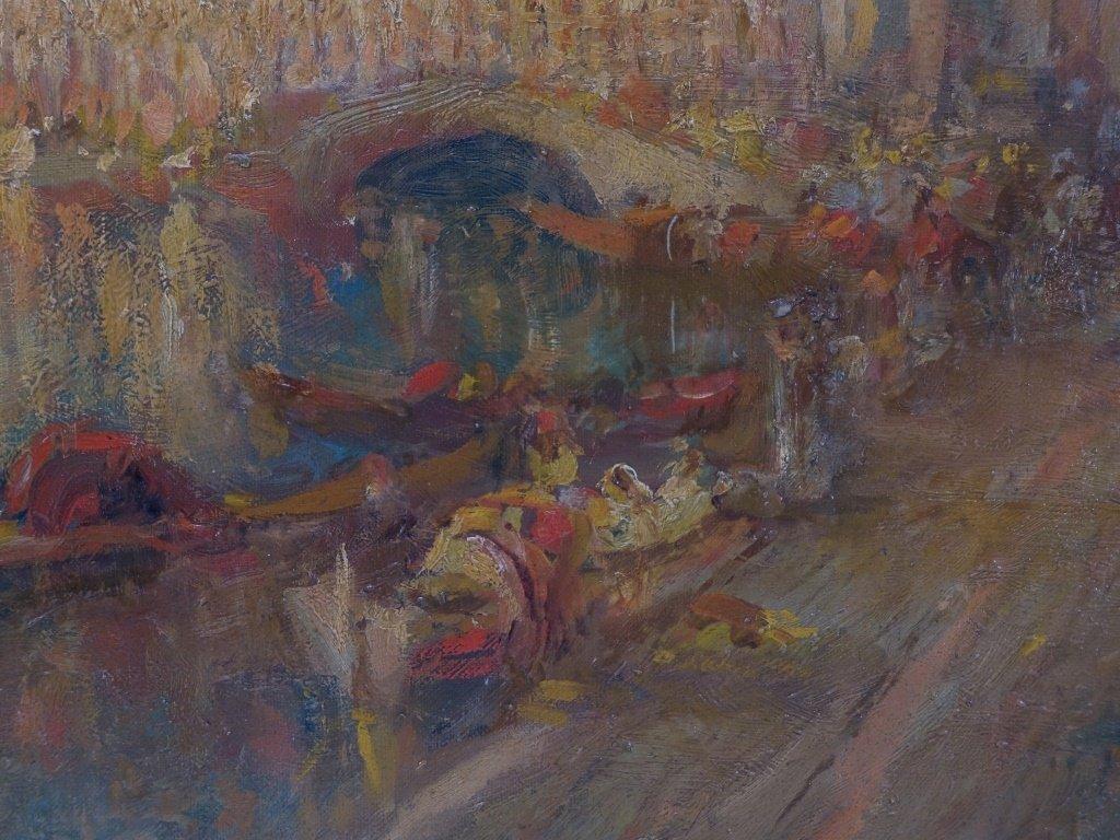 Lucien Powell Grand Canal Venetian Scene Painting - 5