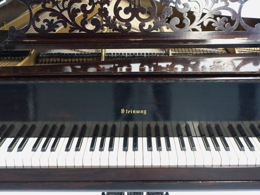Antique 1860 Steinway Rosewood Concert Grand Piano - 2