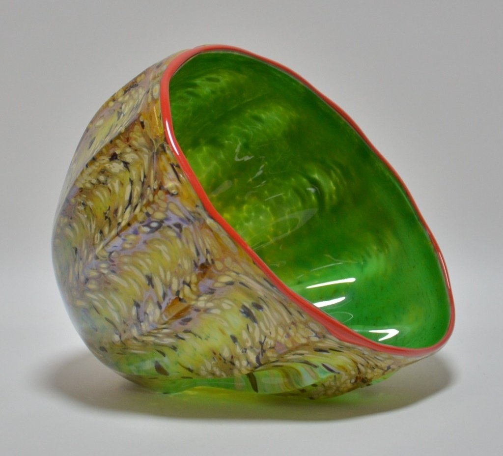 Dale Chihuly Macchia Abstract Art Glass Bowl