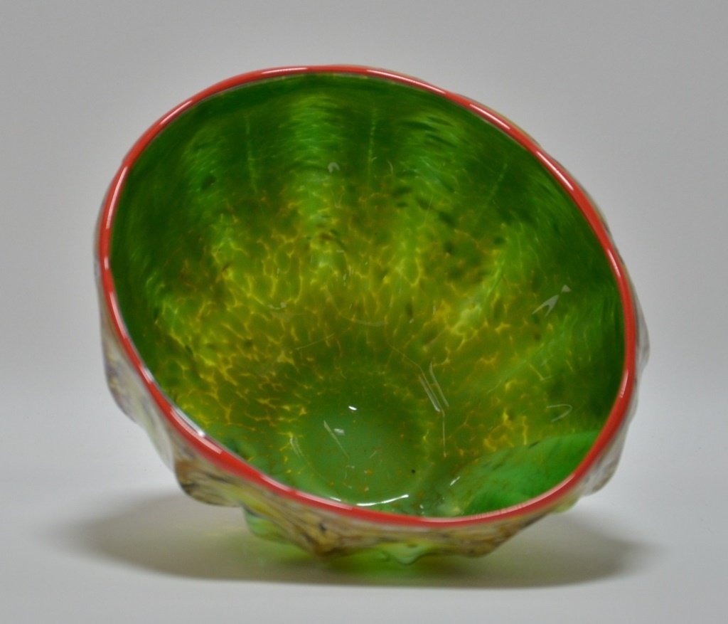 Dale Chihuly Macchia Abstract Art Glass Bowl - 2