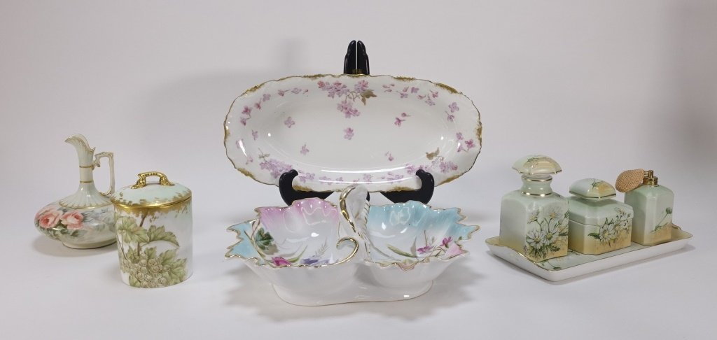 Group 19C. French Hand Painted Porcelain Articles