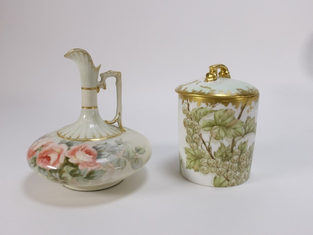 Group 19C. French Hand Painted Porcelain Articles - 2