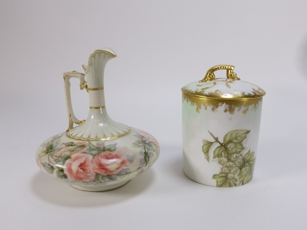Group 19C. French Hand Painted Porcelain Articles - 3