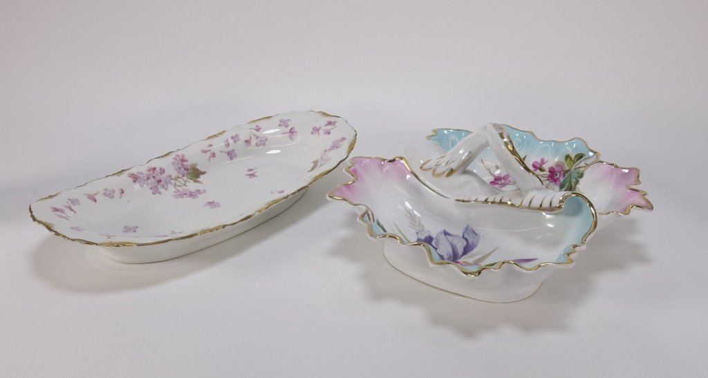 Group 19C. French Hand Painted Porcelain Articles - 5