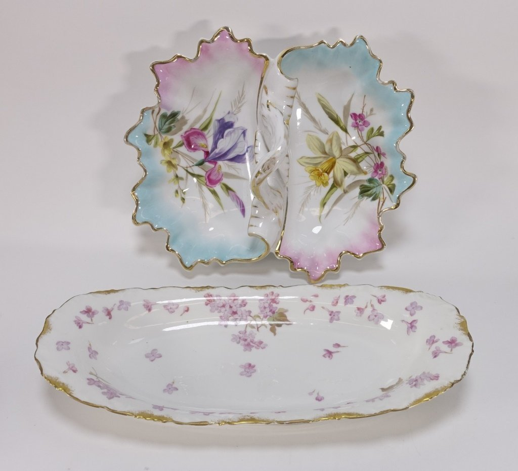 Group 19C. French Hand Painted Porcelain Articles - 6