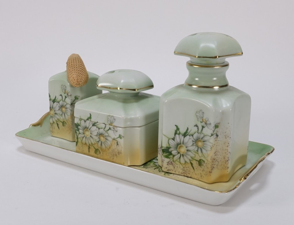 Group 19C. French Hand Painted Porcelain Articles - 9