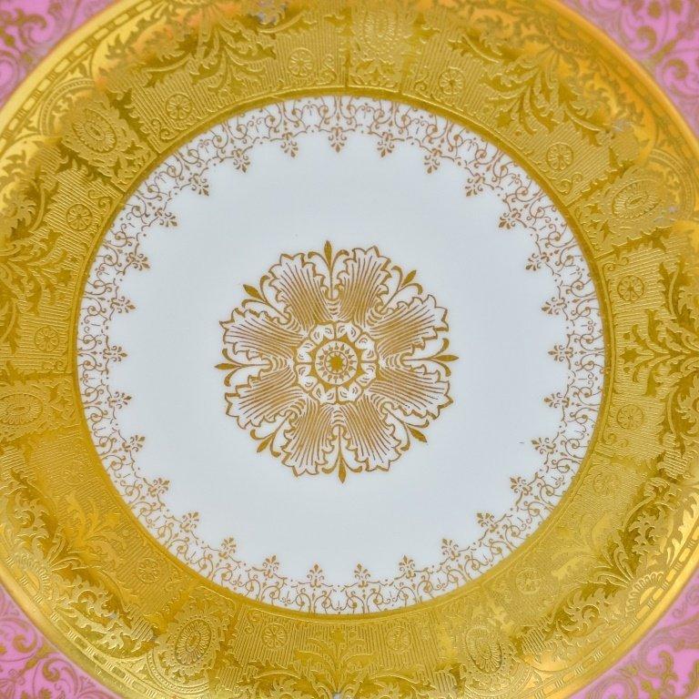 Set 12 Hutschenreuther Pink Gilt Porcelain Plates - 6