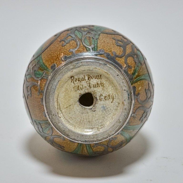 German Royal Bonn Art Nouveau Silver Overlay Vase - 4