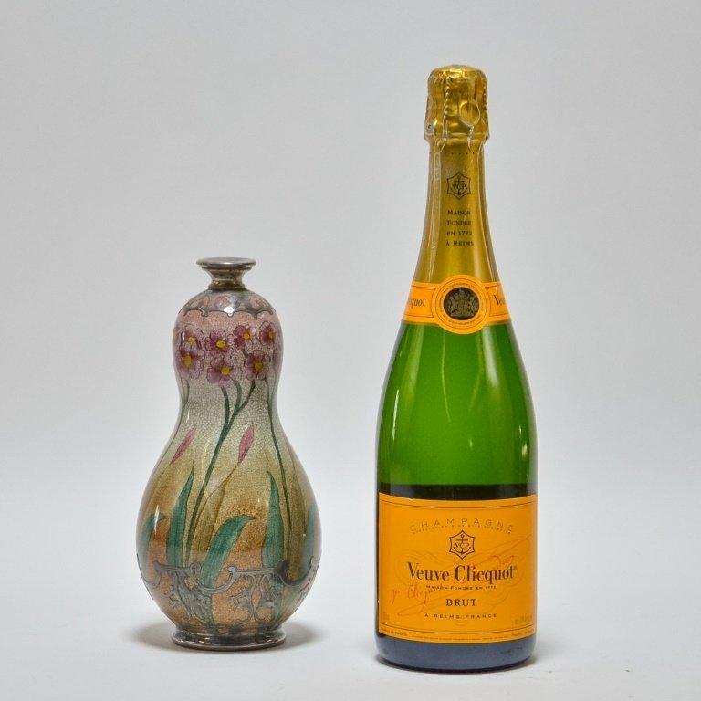 German Royal Bonn Art Nouveau Silver Overlay Vase - 7