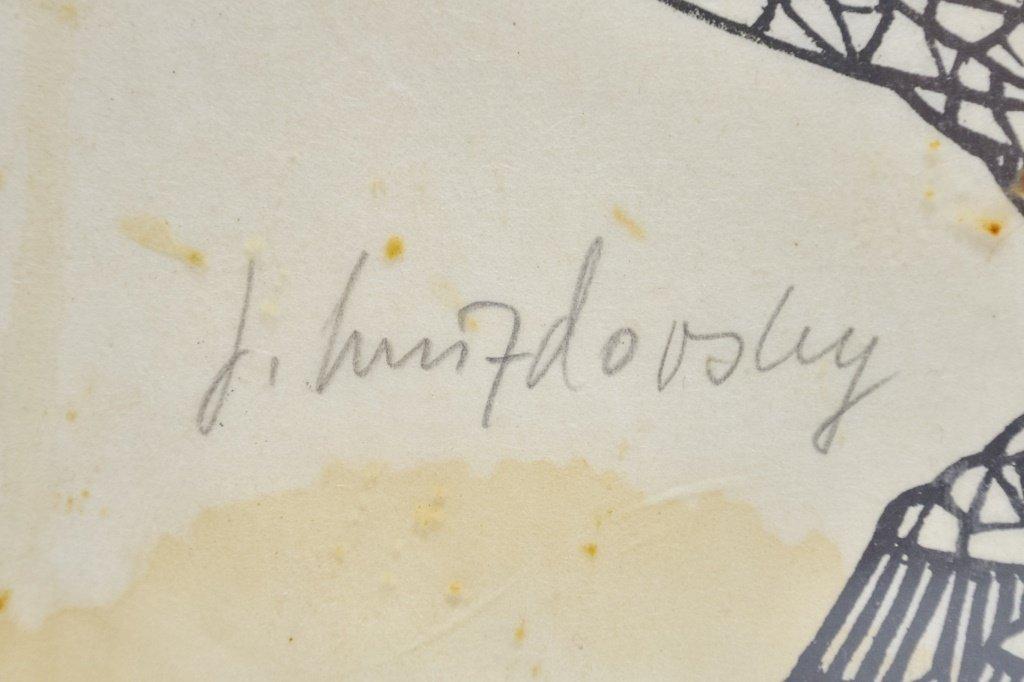 Jacques Hnizdovsky Ram Wood Cut 1961 Proof - 4