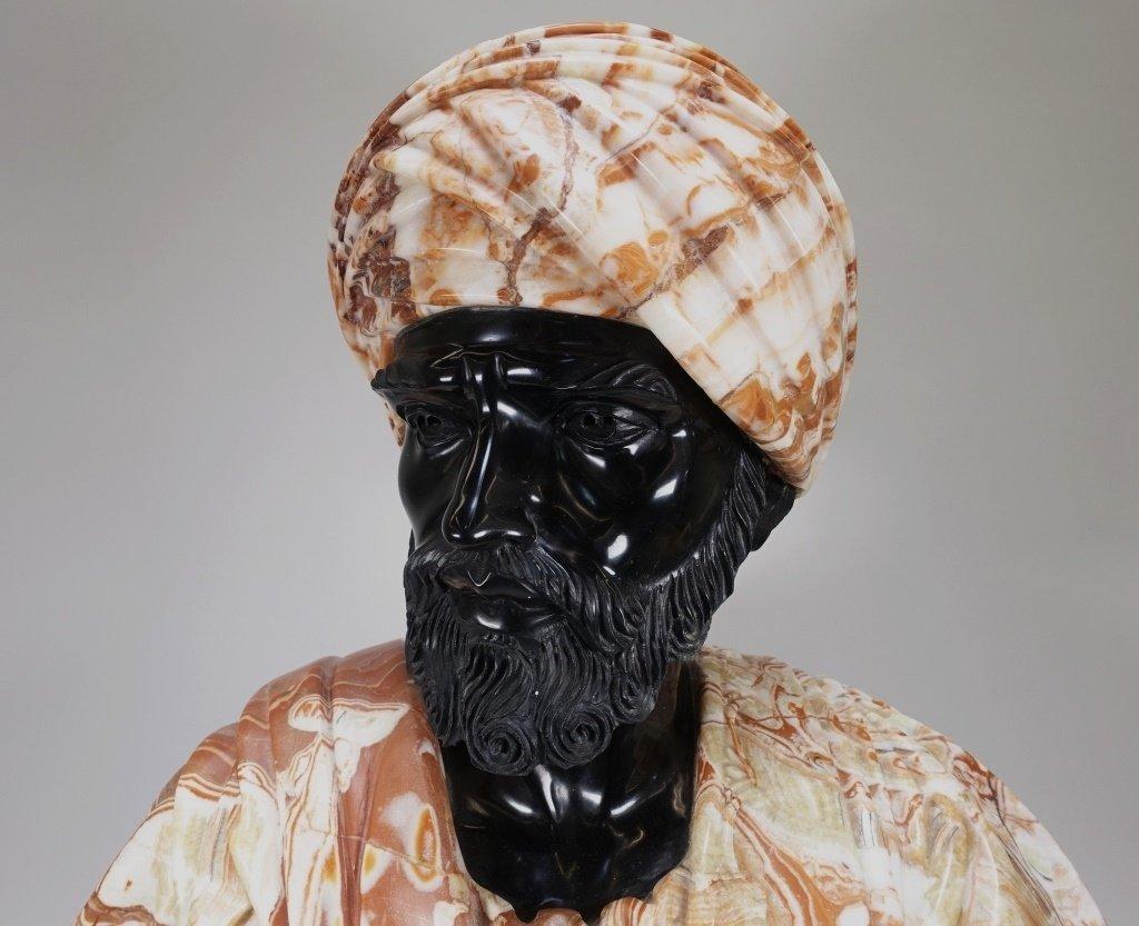 LG Continental Stone Sculpture of Orientalist Man - 2