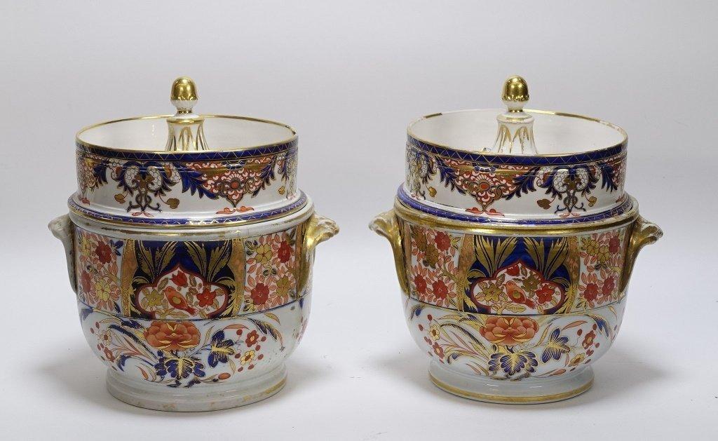 PR English Staffordshire Imari Decorated Cache Pot