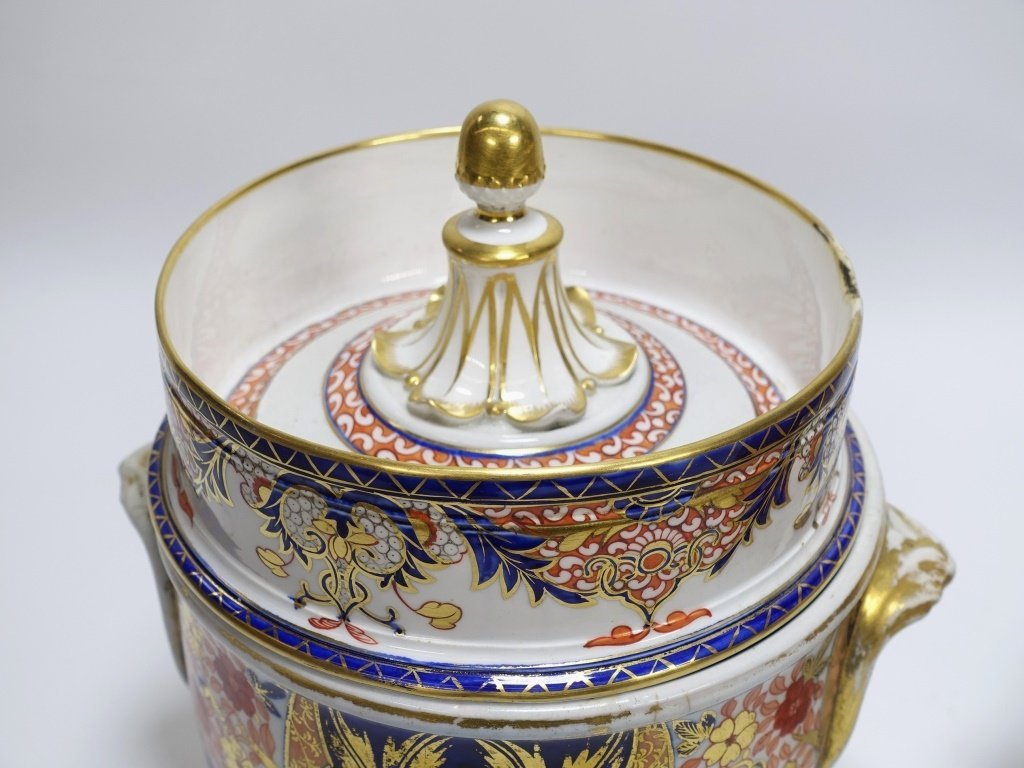 PR English Staffordshire Imari Decorated Cache Pot - 2