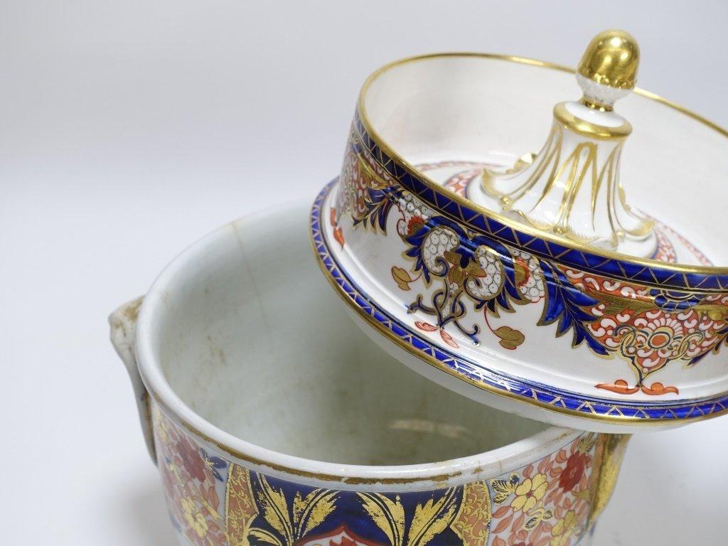 PR English Staffordshire Imari Decorated Cache Pot - 3
