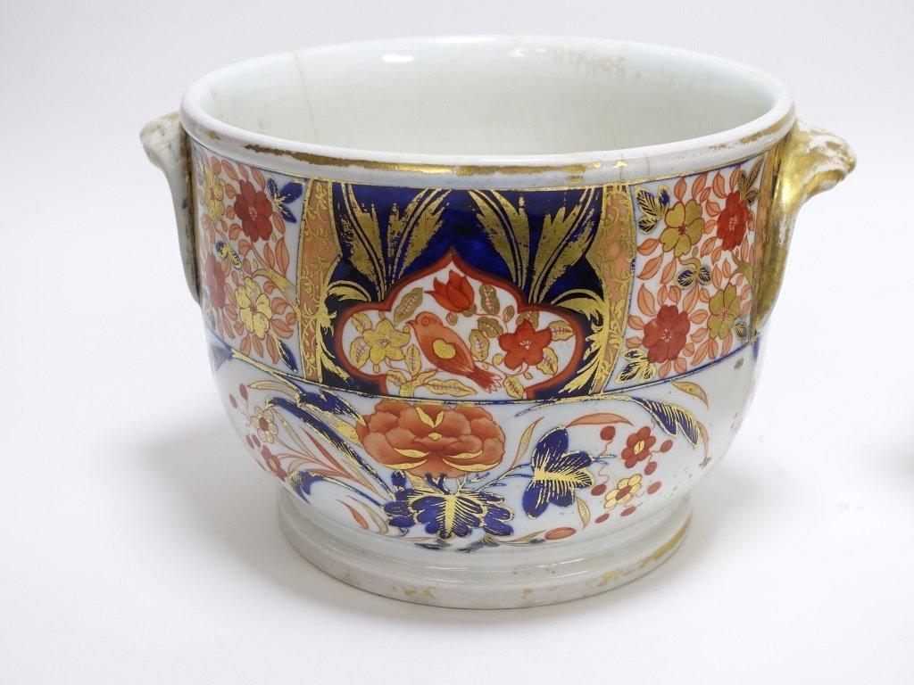 PR English Staffordshire Imari Decorated Cache Pot - 4