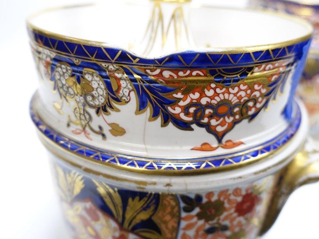 PR English Staffordshire Imari Decorated Cache Pot - 9