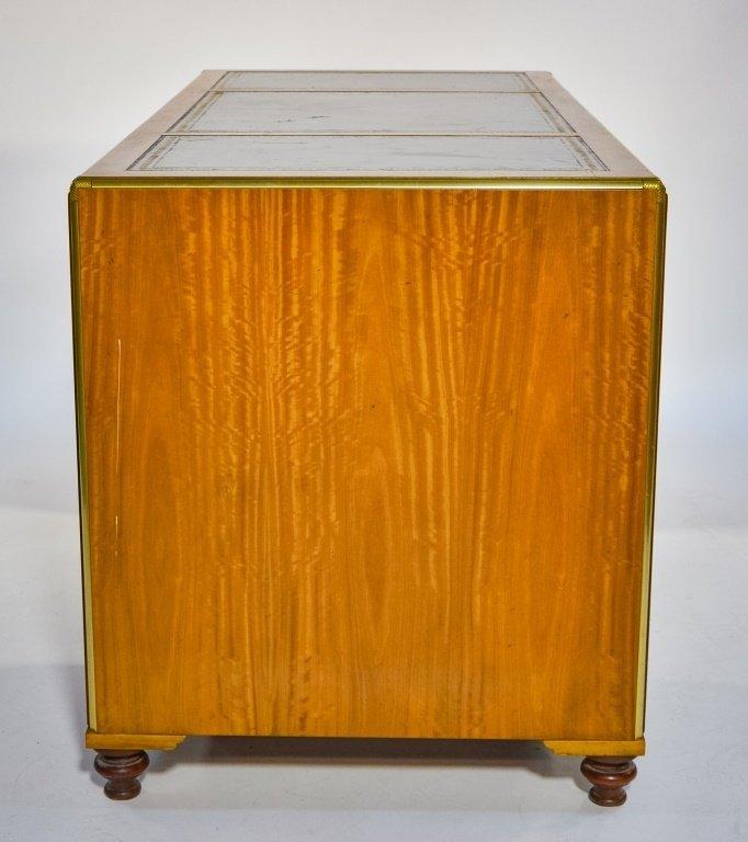 Baker Furniture Campaign Style Bookcase Desk - 2