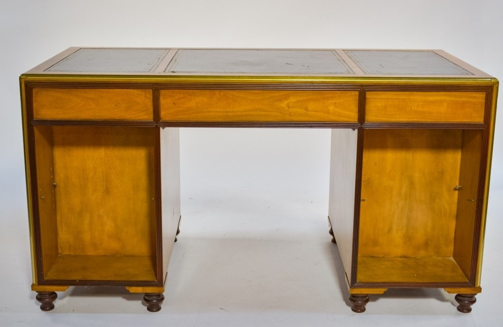 Baker Furniture Campaign Style Bookcase Desk - 3