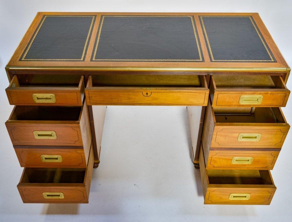 Baker Furniture Campaign Style Bookcase Desk - 5