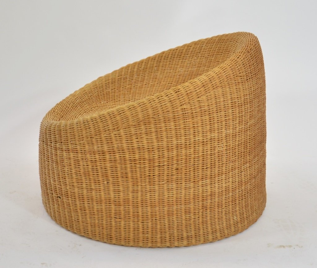 Eero Aarnio Finish Designed Wicker Lounge Chair - 2