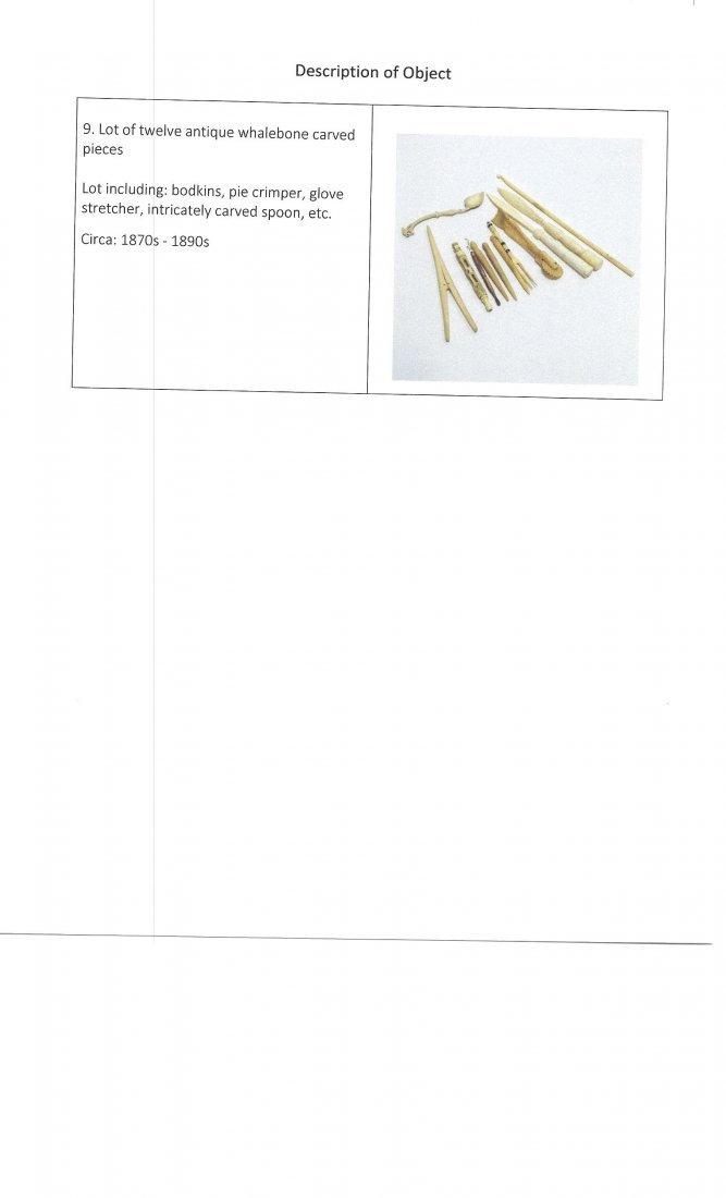 12 Whale Bone Carvings Bodkins Crimper Stretcher - 10