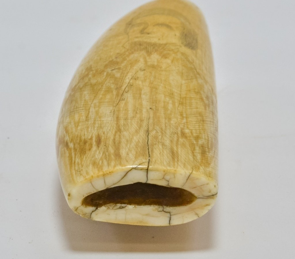 1860's Scrimshaw Civil War Soldier Whale Tooth - 6