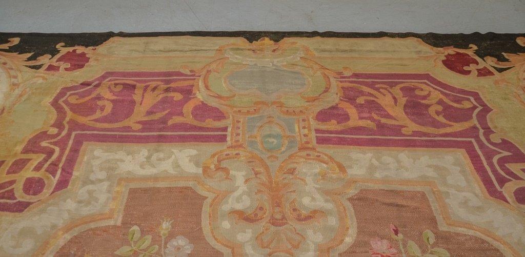Large 18-19C. Colorful Aubusson Carpet Rug - 2