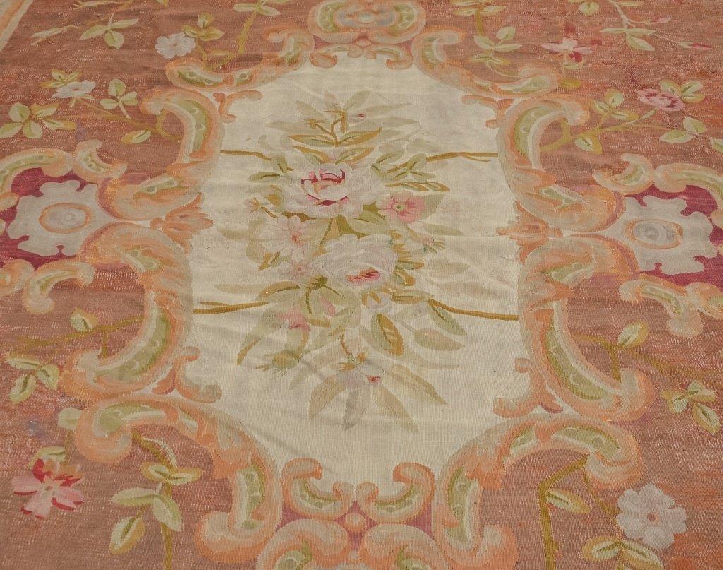 Large 18-19C. Colorful Aubusson Carpet Rug - 3