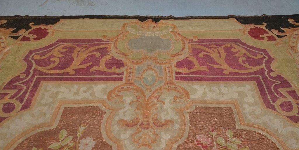 Large 18-19C. Colorful Aubusson Carpet Rug - 4