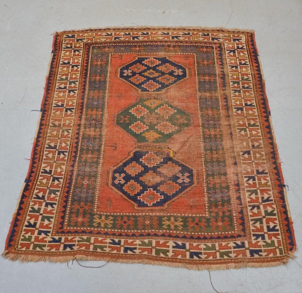 Antique C.1900 Caucasian Carpet Rug