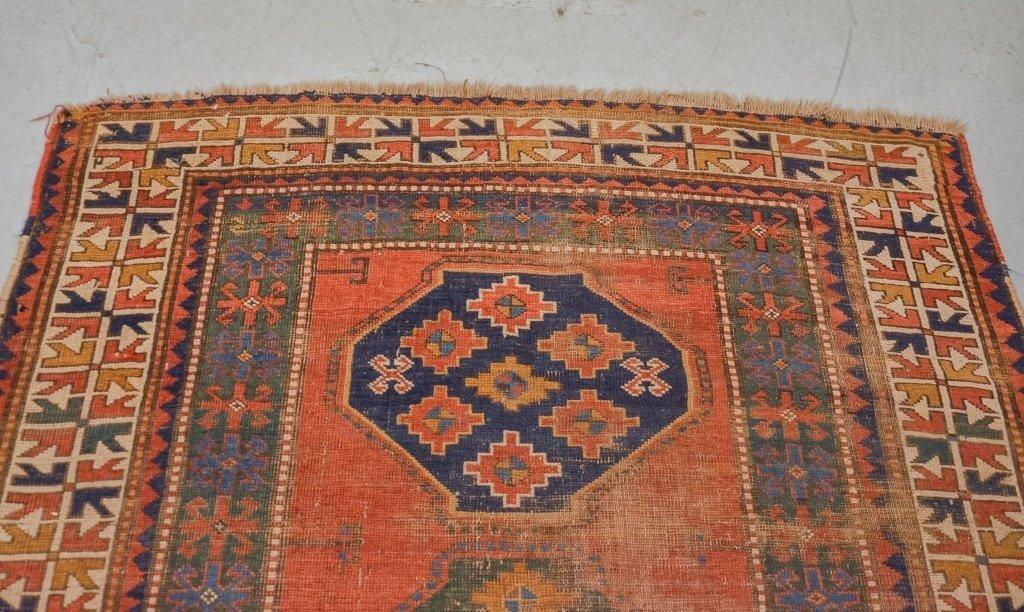 Antique C.1900 Caucasian Carpet Rug - 2