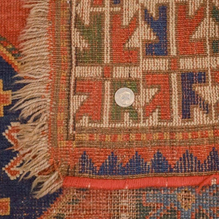 Antique C.1900 Caucasian Carpet Rug - 4
