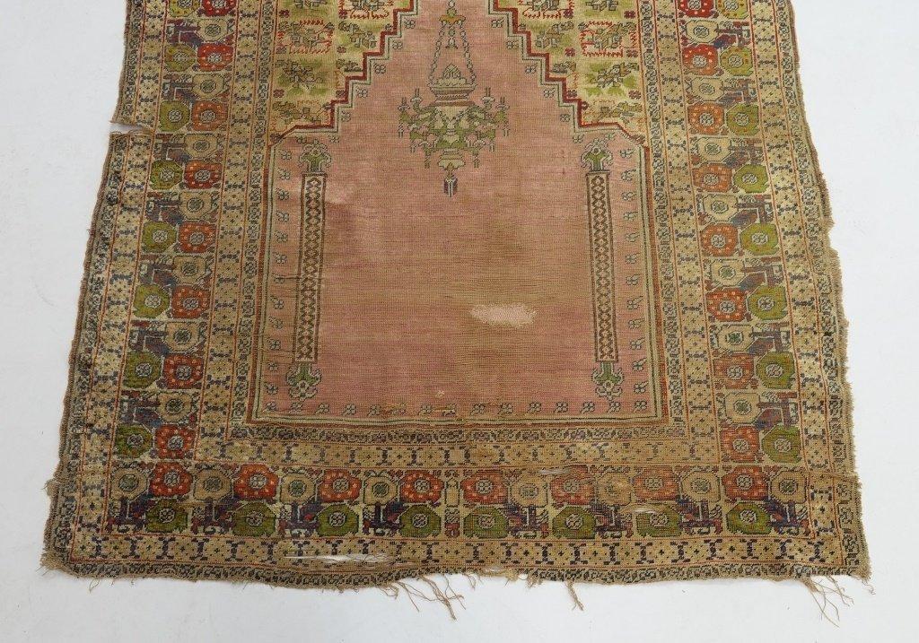 Antique 19C. Turkish Prayer Rug Carpet - 2