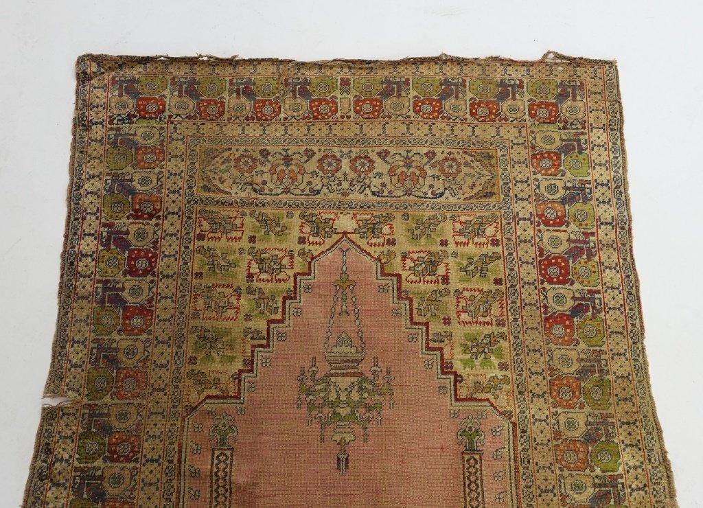 Antique 19C. Turkish Prayer Rug Carpet - 5