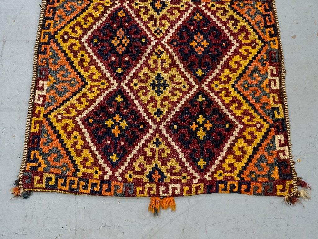 Semi-Antique Persian Bag Face Saddle Bag Rug - 3