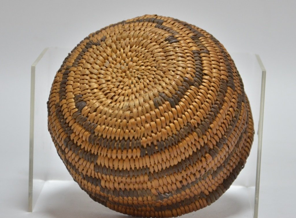 Apache Southwestern Native American Coil Basket - 2