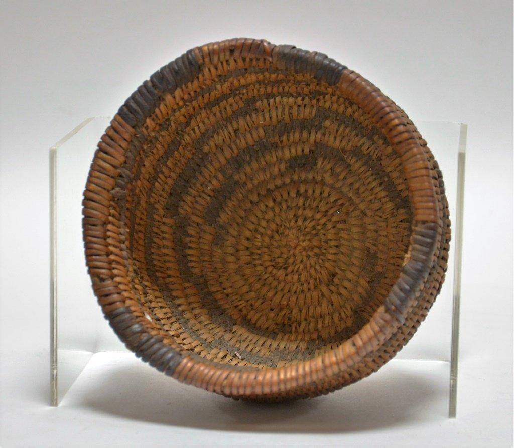 Apache Southwestern Native American Coil Basket - 3