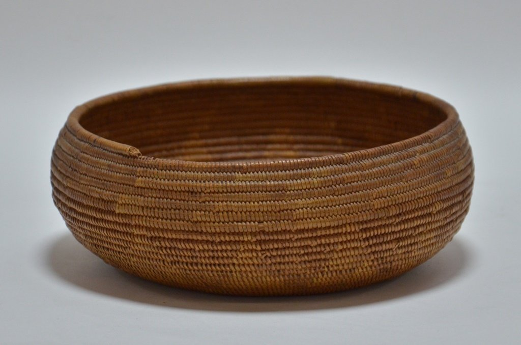California Maidu Tribe Native American Coil Basket