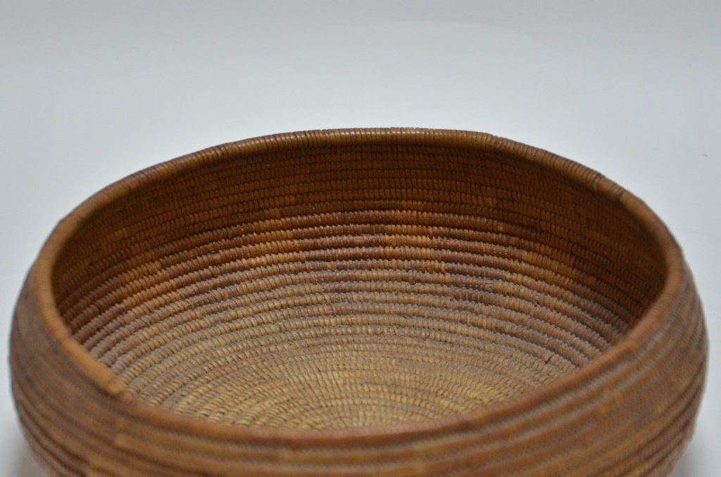 California Maidu Tribe Native American Coil Basket - 2