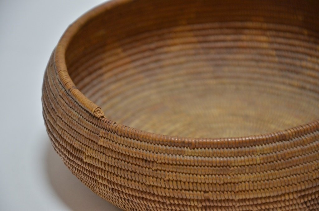 California Maidu Tribe Native American Coil Basket - 3