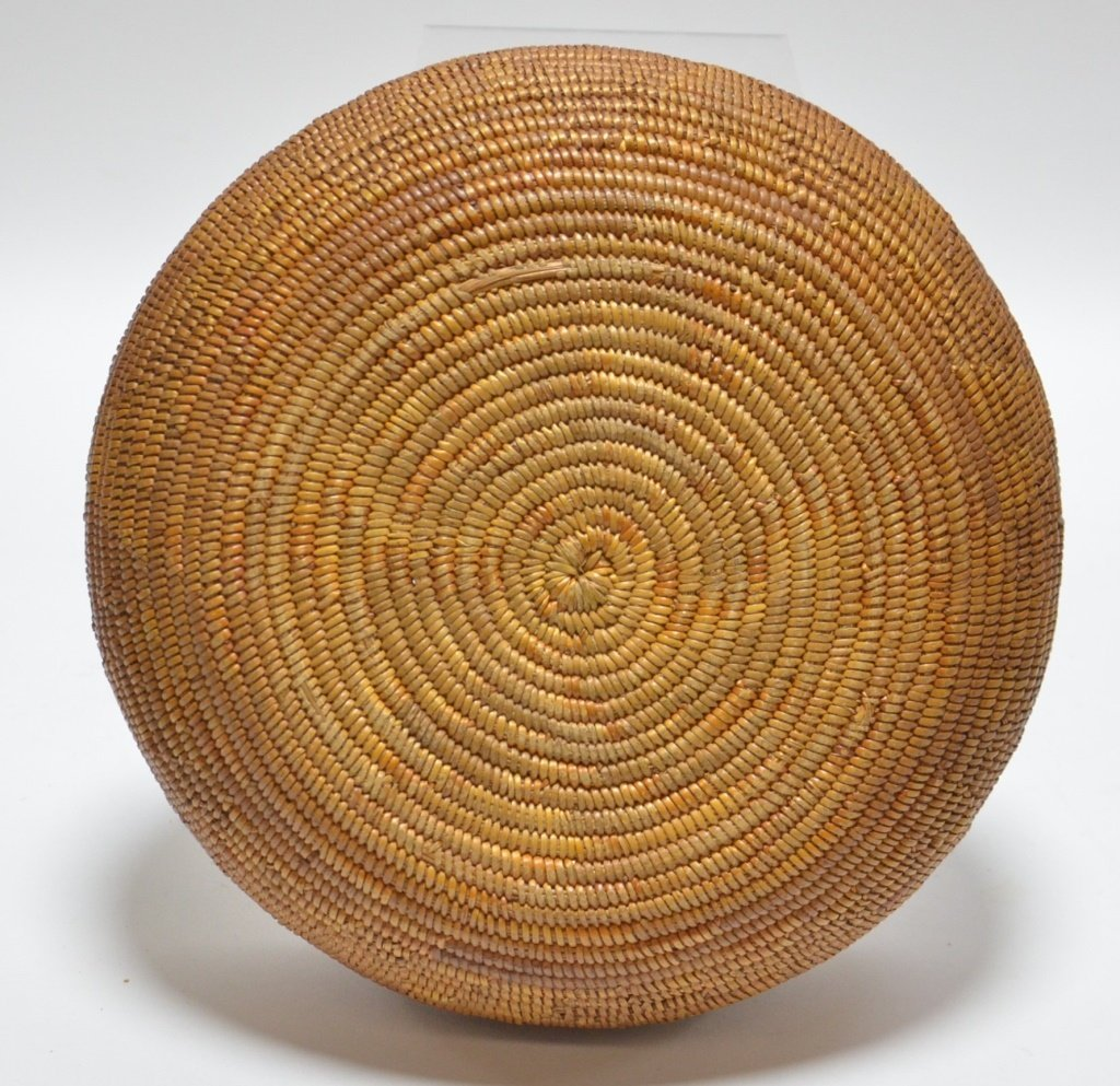 California Maidu Tribe Native American Coil Basket - 4