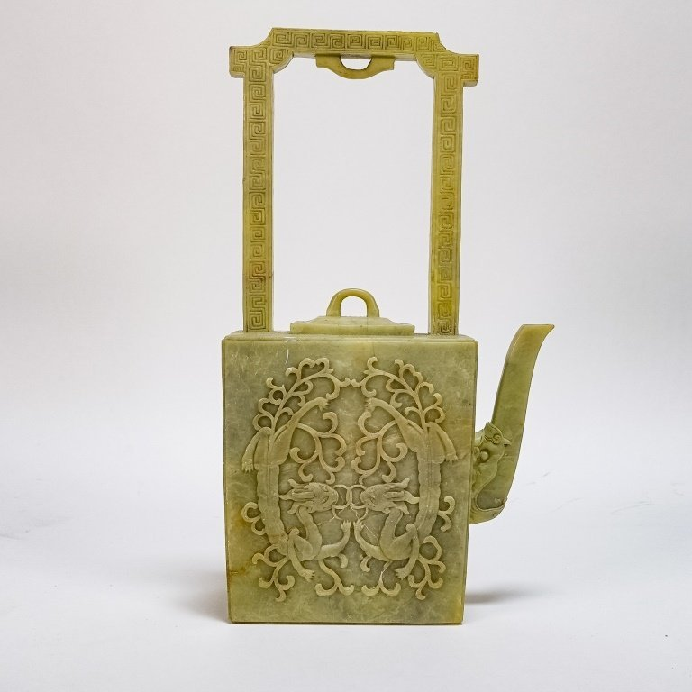 Fine Chinese Qing Dynasty Soapstone Teapot - 2