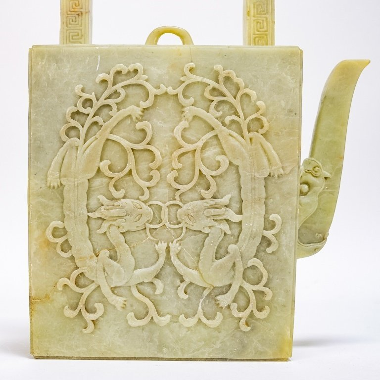 Fine Chinese Qing Dynasty Soapstone Teapot - 3