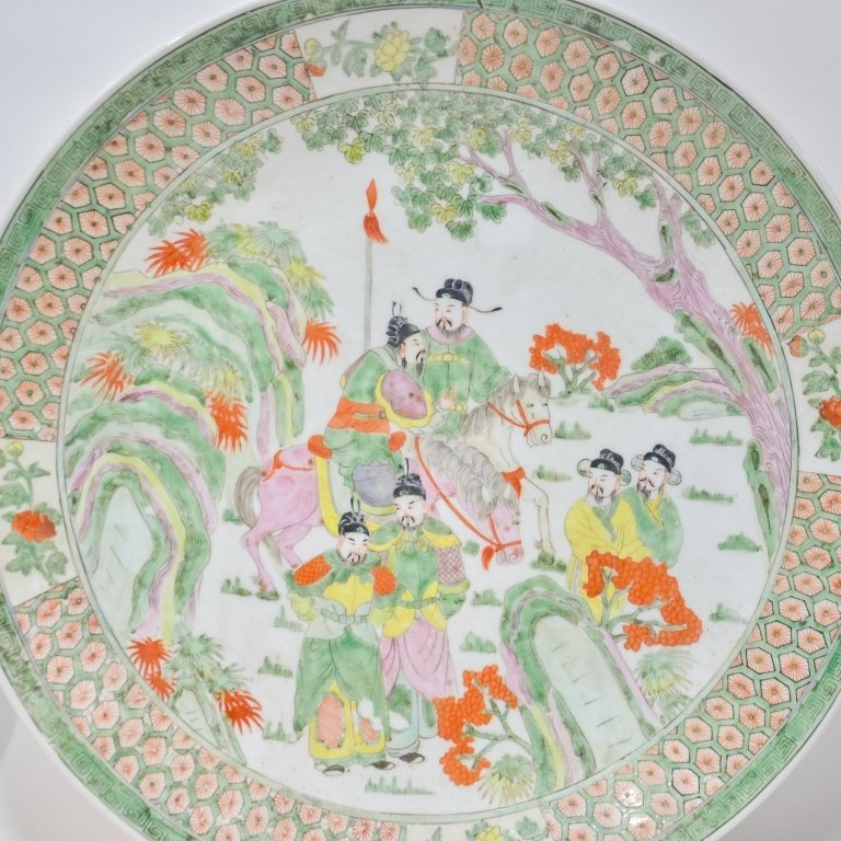 PR. Chinese Famille Verte Porcelain Chargers - 3