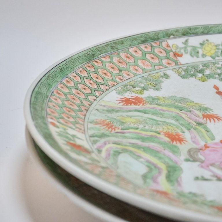 PR. Chinese Famille Verte Porcelain Chargers - 5