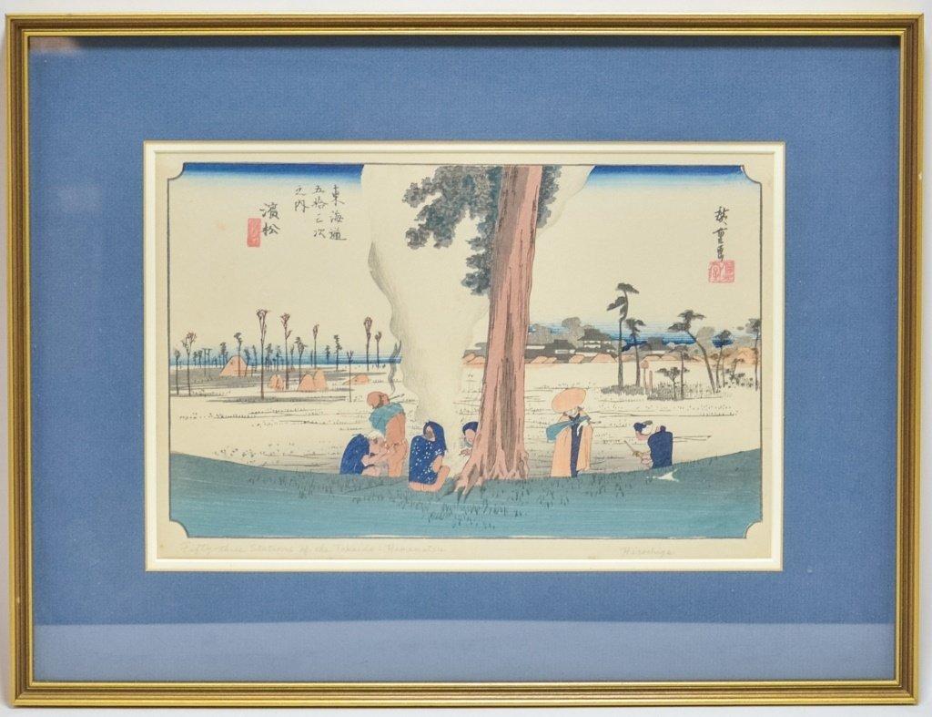 Hiroshige Woodblock Tokaido Highway Hamamatsu